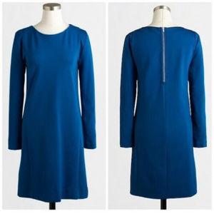 J Crew XXS Blue Seamed Ponte knit dress Shift
